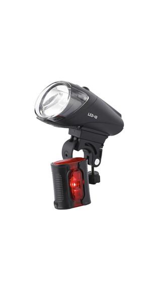 Busch + Müller IXON IQ Premium/IXBACK senso Beleuchtungsset schwarz
